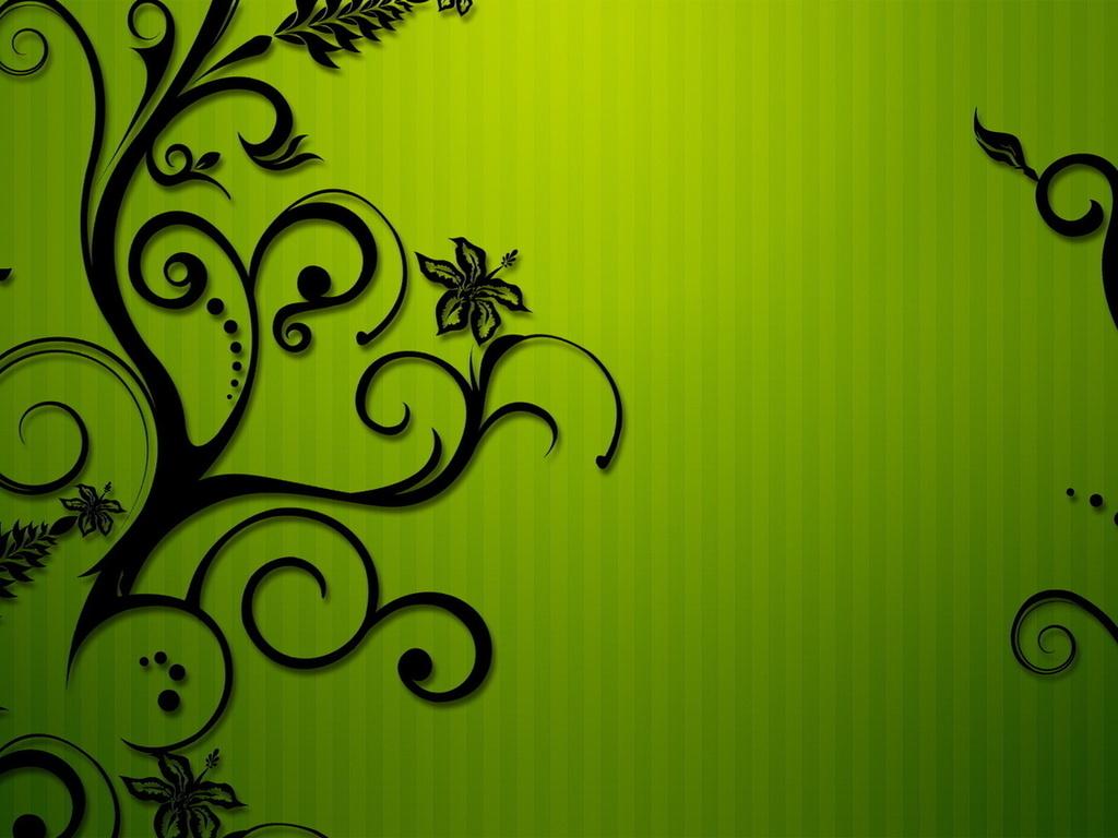 1024 768 In Green Pattern Flowers Backgrounds Powerpoint Heidi Hadley